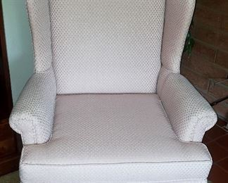 white wing chair great shape