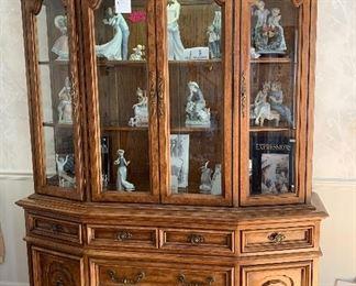 Hibriten lighted display cabinet