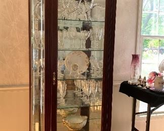 """Lighted display cabinet  77""""h X 36""""w X 14""""d"""