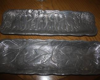 PEWTER SERVING TRAYS