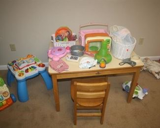 MORE TOYS AND NICE WOOD TABLE SET