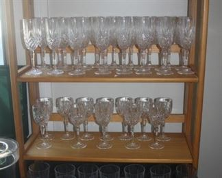 MADE IN FRANCE !  LEAD CRYSTAL GOBLETS + GLASSES