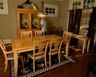 6. Dining Set with Table, Chairs, and China Cabinet