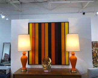 Great MCM lamps with shades!