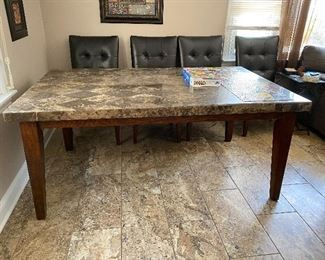 Solid marble top table