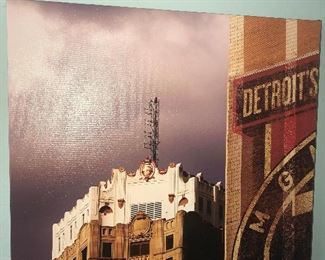 RARE CUSTOM MADE PHOTO WRAP OF DETROIT'S DETROIT'S HISTORIC WATER WORKS BUILDING