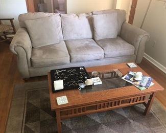 FULL SIZE OF MICRO FABRIC SOFA EXCELLENT CONDITION IS NOW 35% OFF