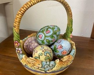 Jim Shore Easter Eggs & Basket