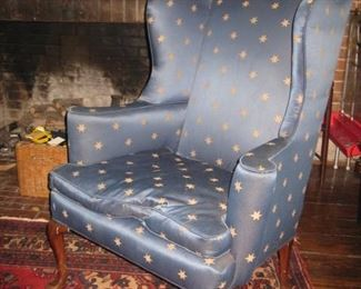 wing chair with down cushion