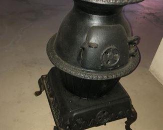 Cast Iron Pot Belly Stove