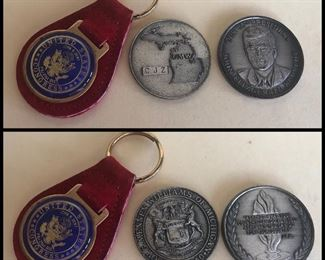 Lot #5B Congress keychain and two coins, $18