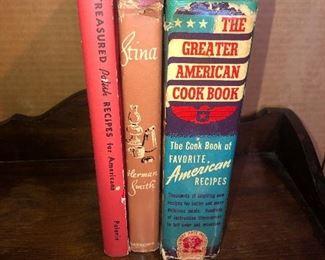 Lot #21B, Collection of three hardcover cookbooks, $18/set of three