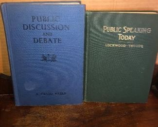 Lot 28B, Pair of books, Public Speaking and Public Discussion, $12 for the pair