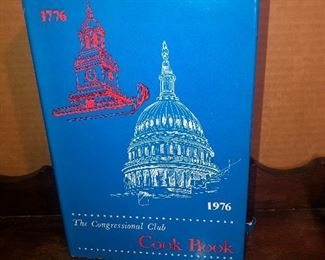 Lot 36B, The Congressional Cook Book 1976, $8