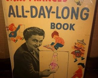 Lot 38B, Miss Frances All-Day-Long Book, well loved, $6