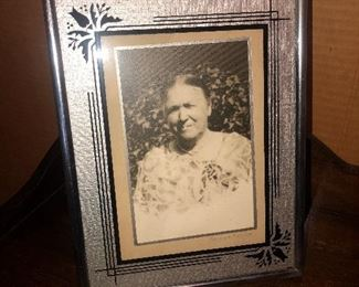 Lot 42B, Large frame and wonderful photo, very nice condition, $12
