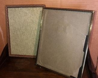 Lot 47B, Set of two larger frames, wood and metal, $12/pair