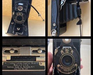 Lot 50B, Eastman No 2 Kodak camera, $12