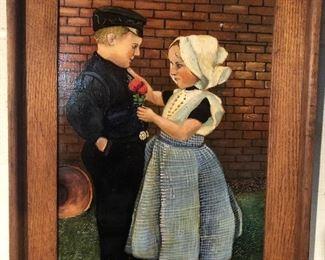 Lot 55B, amazing oil painting, Zeeland Holand 1945, $180
