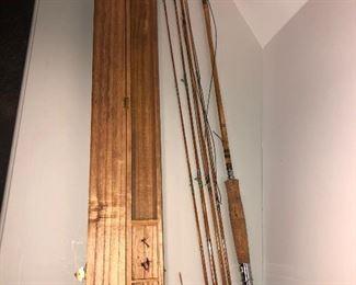 Lot 59B, Slightly used fishing rod in case, $75
