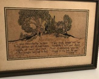 Lot 62B, My Husband framed print, $12