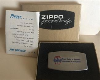 Lot 67B, Zippo pocket knife, Boys Clubs of America, $14