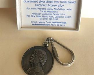 Lot 72B, Jimmy Carter Inaugural Key Ring in box, $10