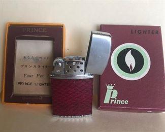 Lot 76B, Vintage prince lighter with box, $14