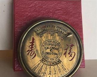 Lot 85B, Perpetual 50 year calendar, new in box, $12