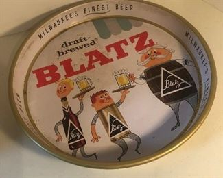 Lot 96B, Blatz Beer tray, $24