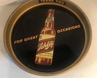 Lot 97B, Schlitz Beer tray, $24