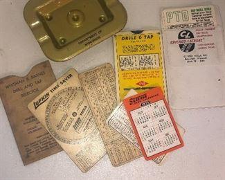 Lot 112B, American Legion ashtray and a variety of ephemera, $14