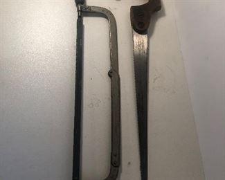 Lot 124B, Two saws, $10/pair