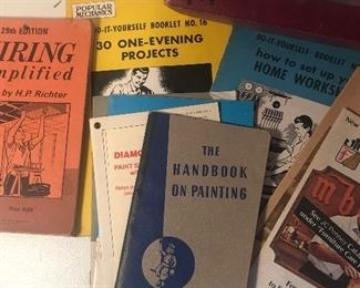 Lot 127B, vintage manuals and books, $12/all