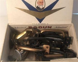 Lot 130B, Cigar box full of handles, $12