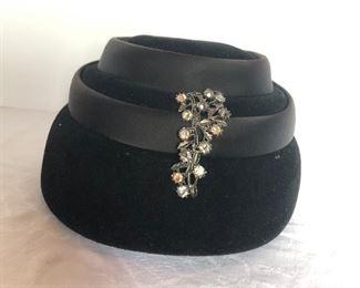 Lot 145B, Elegant black hat, $16