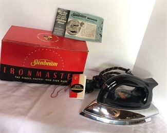 Lot 152B, Sunbeam Ironmaster, $12