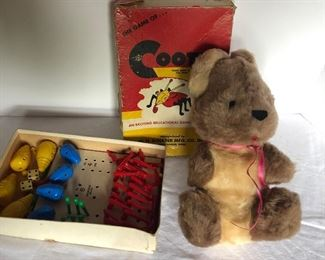Lot 153B, Cootie and a bear, $8