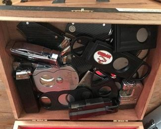Tobacciana accessories and boxes.  LOTS of boxes !!