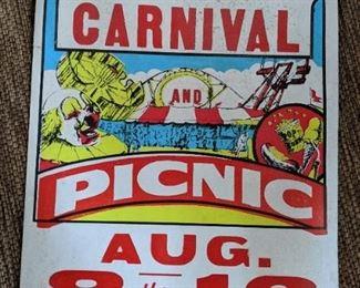 Vintage Mocksville Masonic Carnival Poster