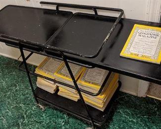 National Geographic Magazines/Typewriter Stand