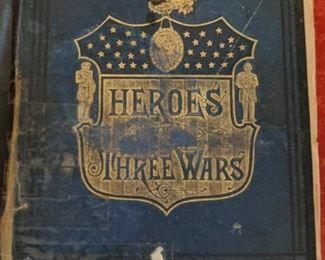 """1879 """"Heroes of Three Wars"""" by Captain Willard Glazier"""