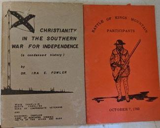 Military Booklets(Civil War, Kings Mountain)