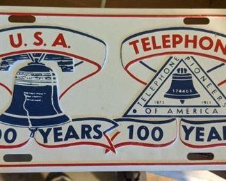 Telephone Pioneers License Plate