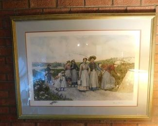 Large Berry Pickers Print