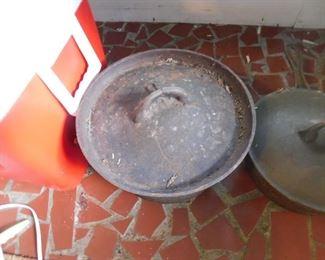 Cast Iron Pots with Lids