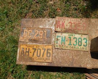 N.C. License Plates