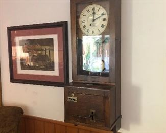 Vintage antique clock in and out workplace clock