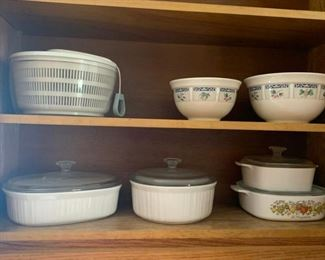 I used to think Salad Spinners were the most ridiculous kitchen tool ever but I've come to appreciate the value of dry lettuce in my old age.  And for $5 it's a steal.  But the real star of the show are the  casserolle dishes.  Take all of them for $40!  or if you just want one we can make a deal.