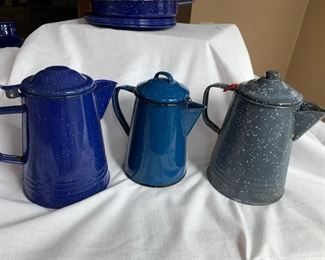 Three little coffee pots, all in a row.  That's it, that's the rhyme.  But honestly isn't that all you need to know.  $25 a piece for the large ones and $18 for the small one in the middle.